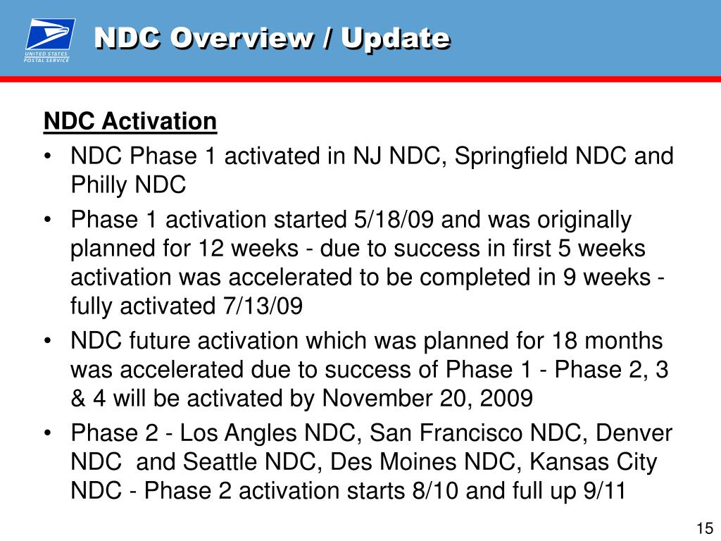 NDC Overview / Update