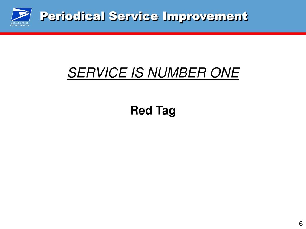 Periodical Service Improvement
