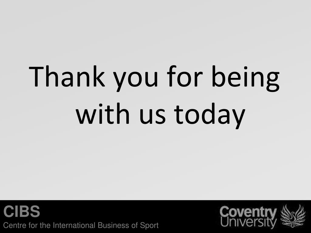 Thank you for being with us today