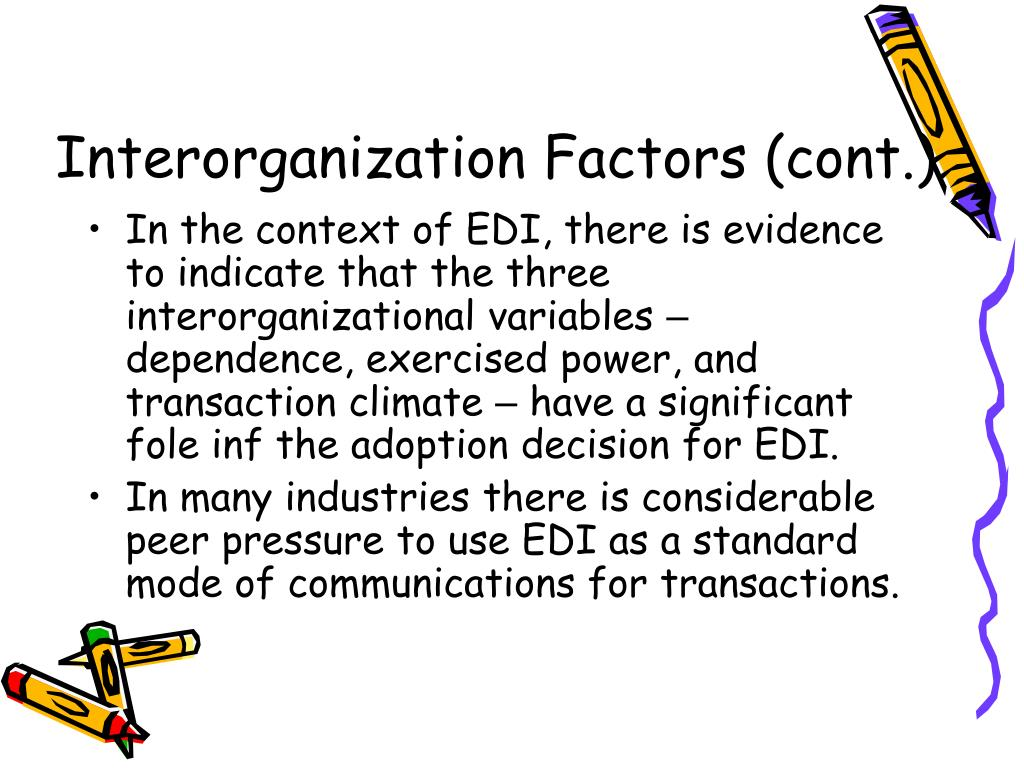 Interorganization Factors (cont.)