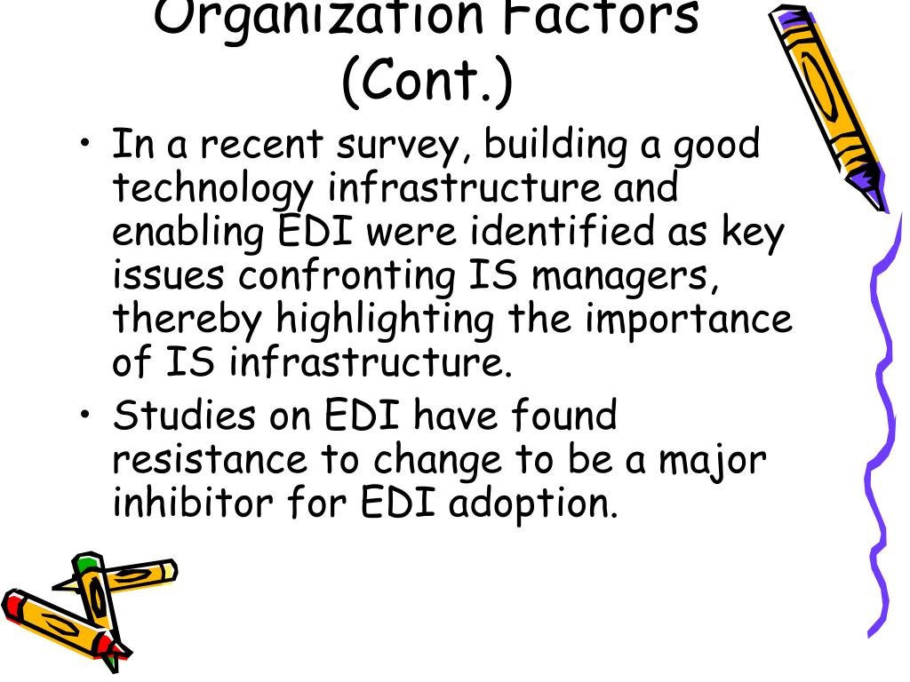 Organization Factors (Cont.)