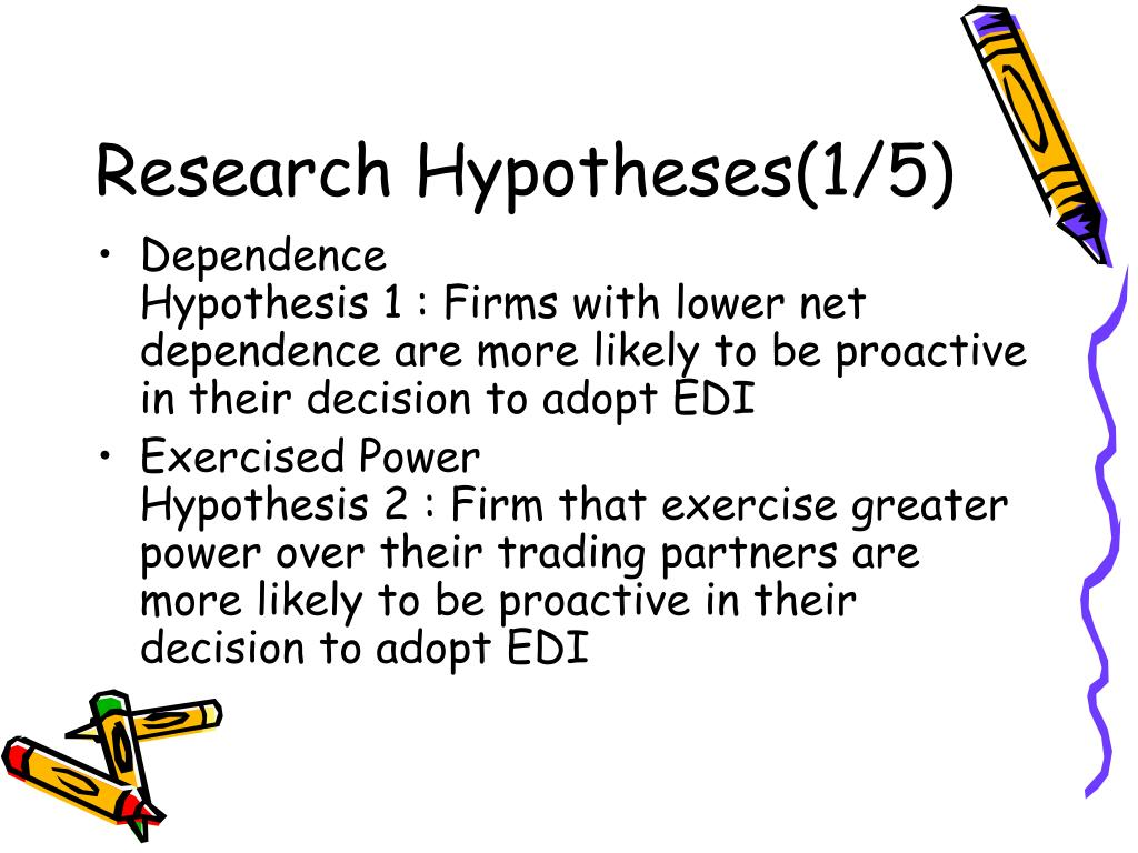 Research Hypotheses(1/5)