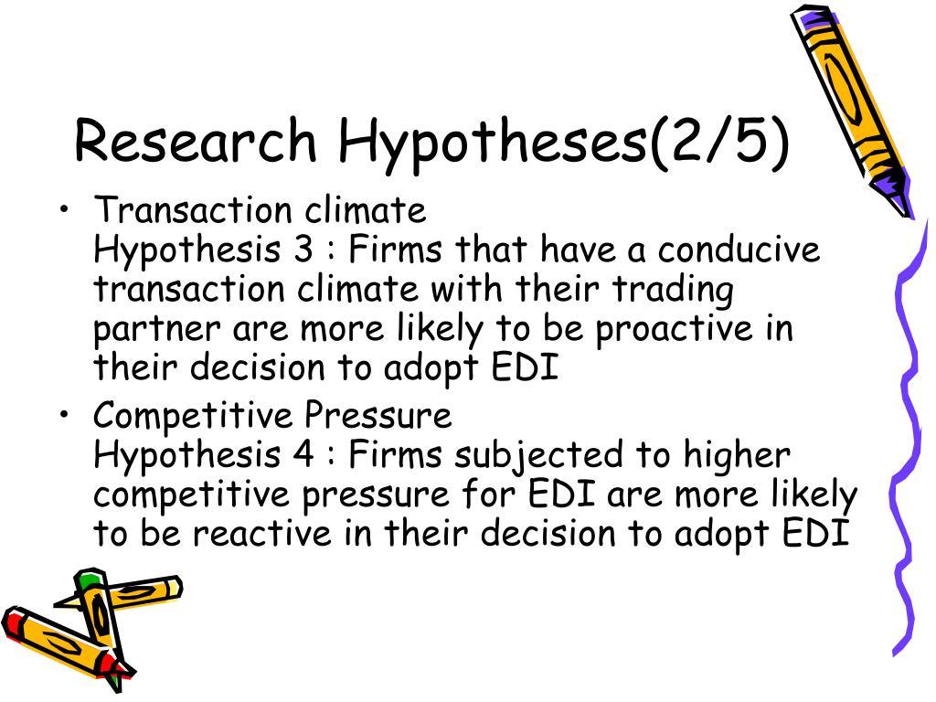 Research Hypotheses(2/5)