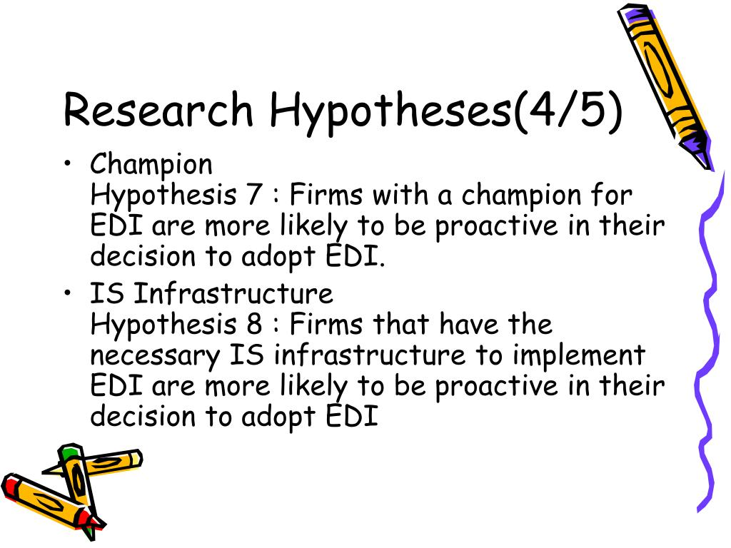 Research Hypotheses(4/5)
