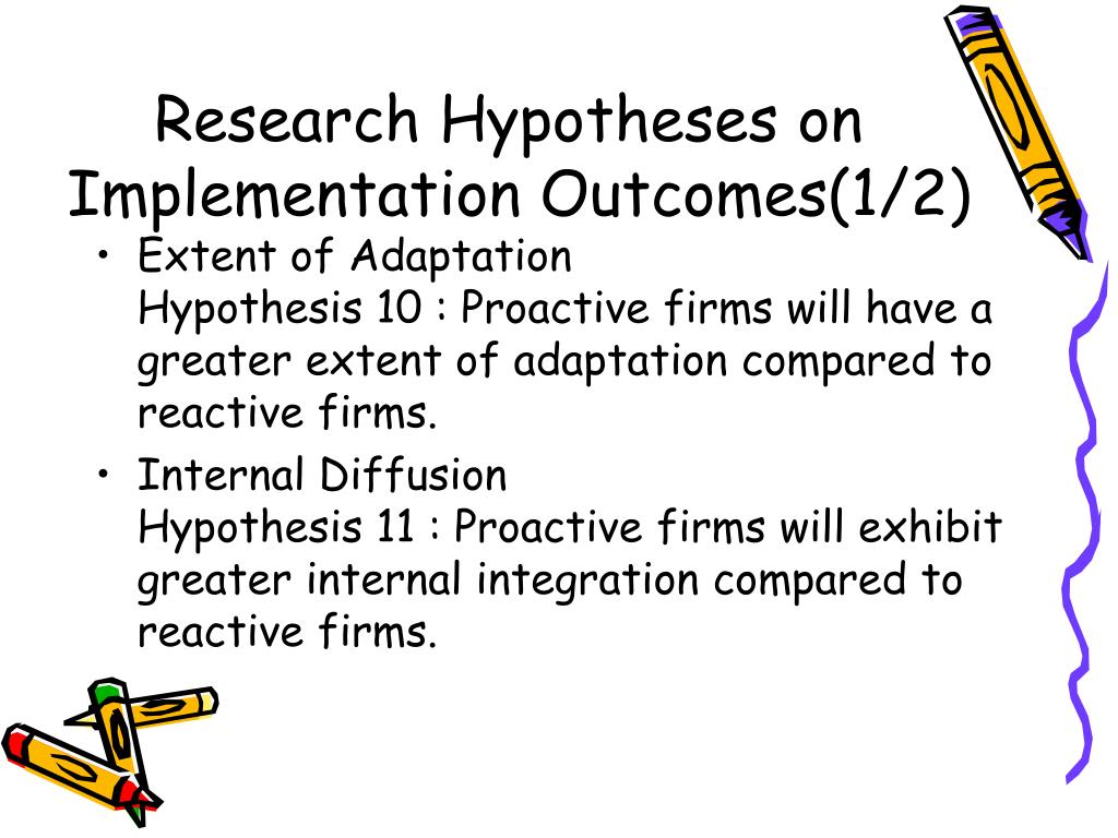 Research Hypotheses on Implementation Outcomes(1/2)