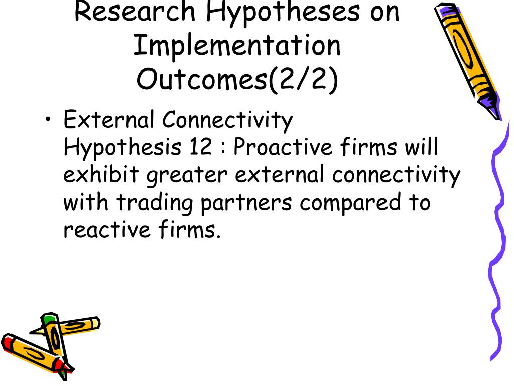 Research Hypotheses on Implementation Outcomes(2/2)