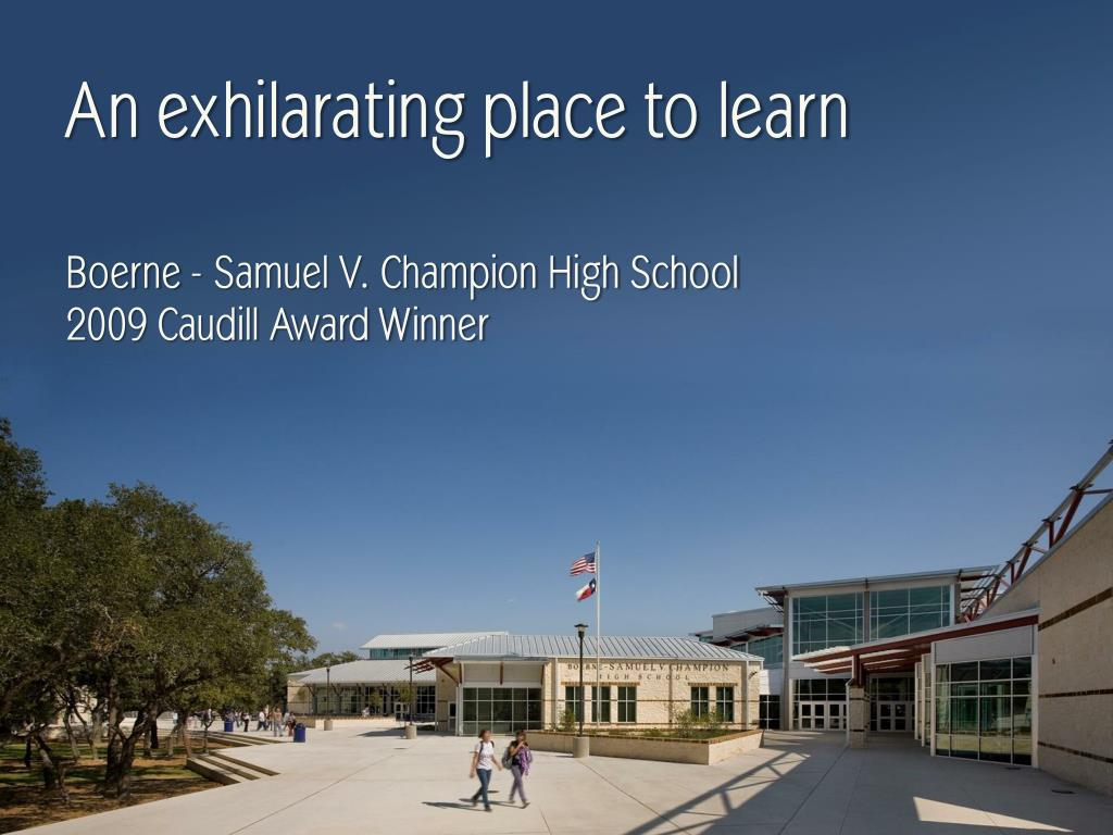 An exhilarating place to learn