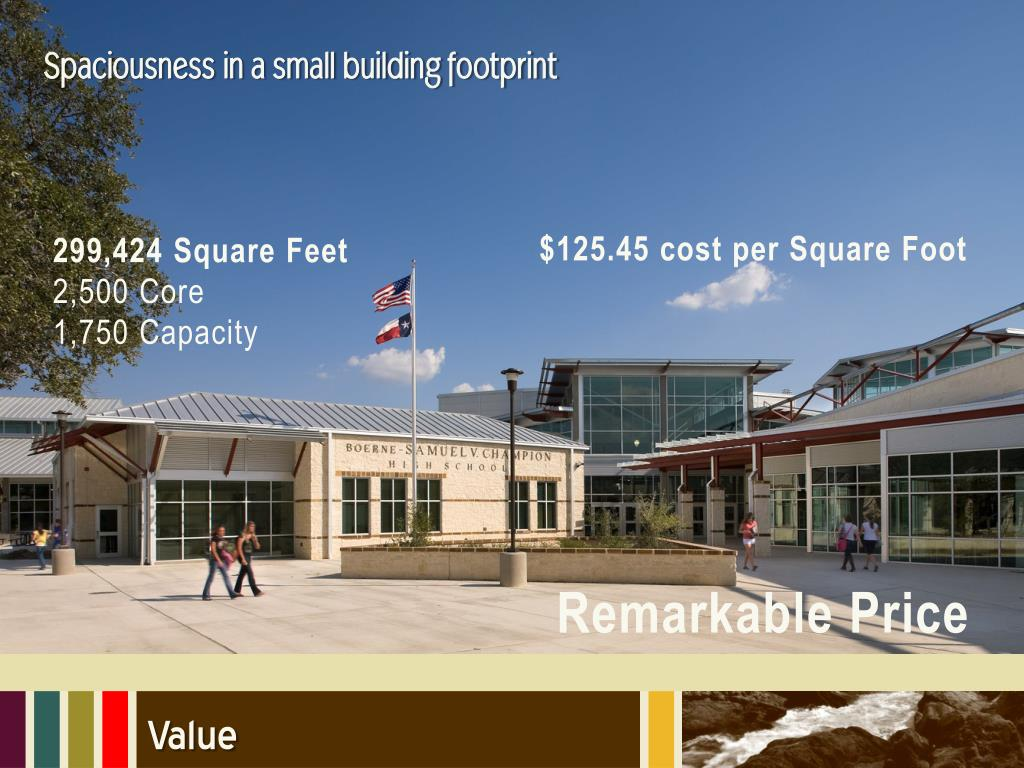 Spaciousness in a small building footprint