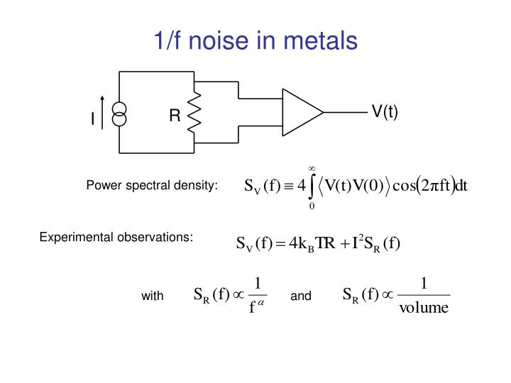 1 f noise in metals
