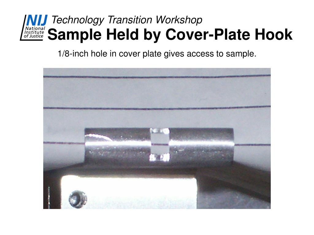 Sample Held by Cover-Plate Hook
