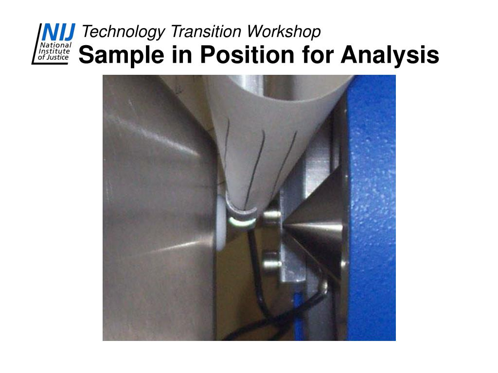 Sample in Position for Analysis