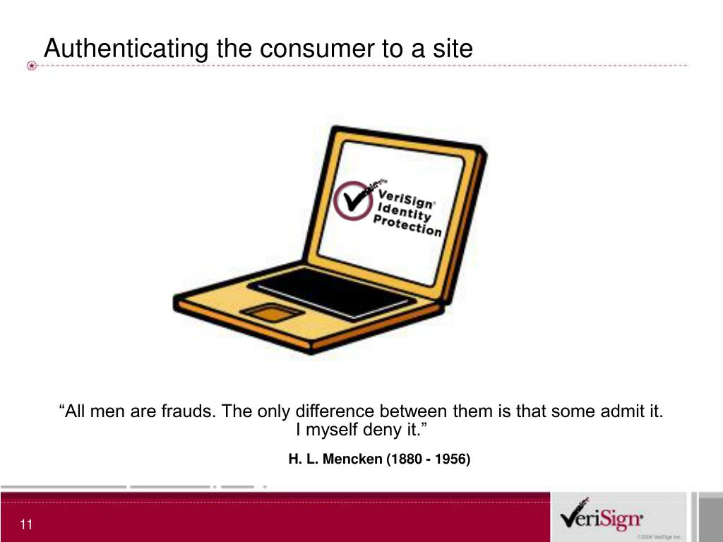 Authenticating the consumer to a site
