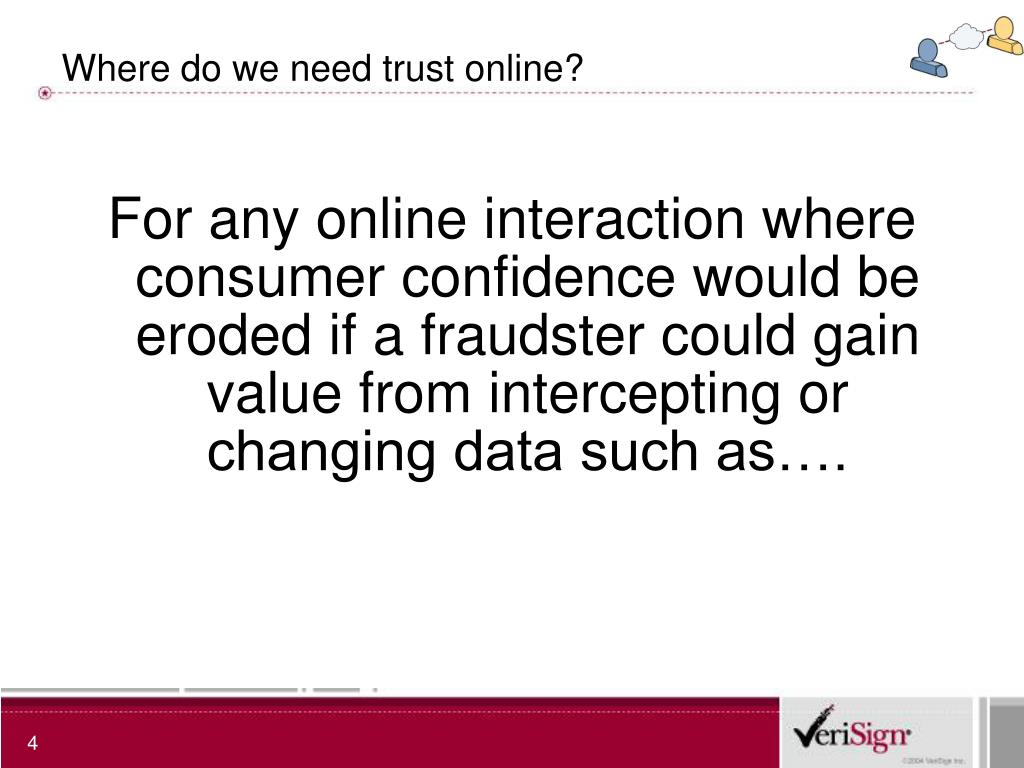 Where do we need trust online?