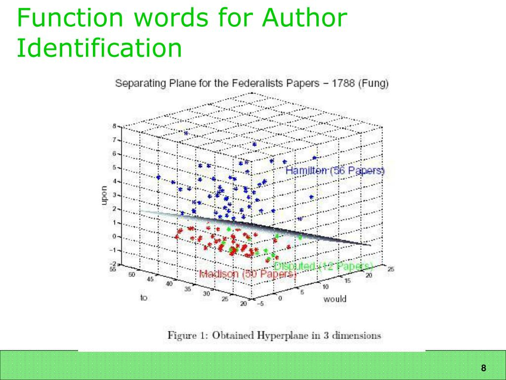Function words for Author Identification