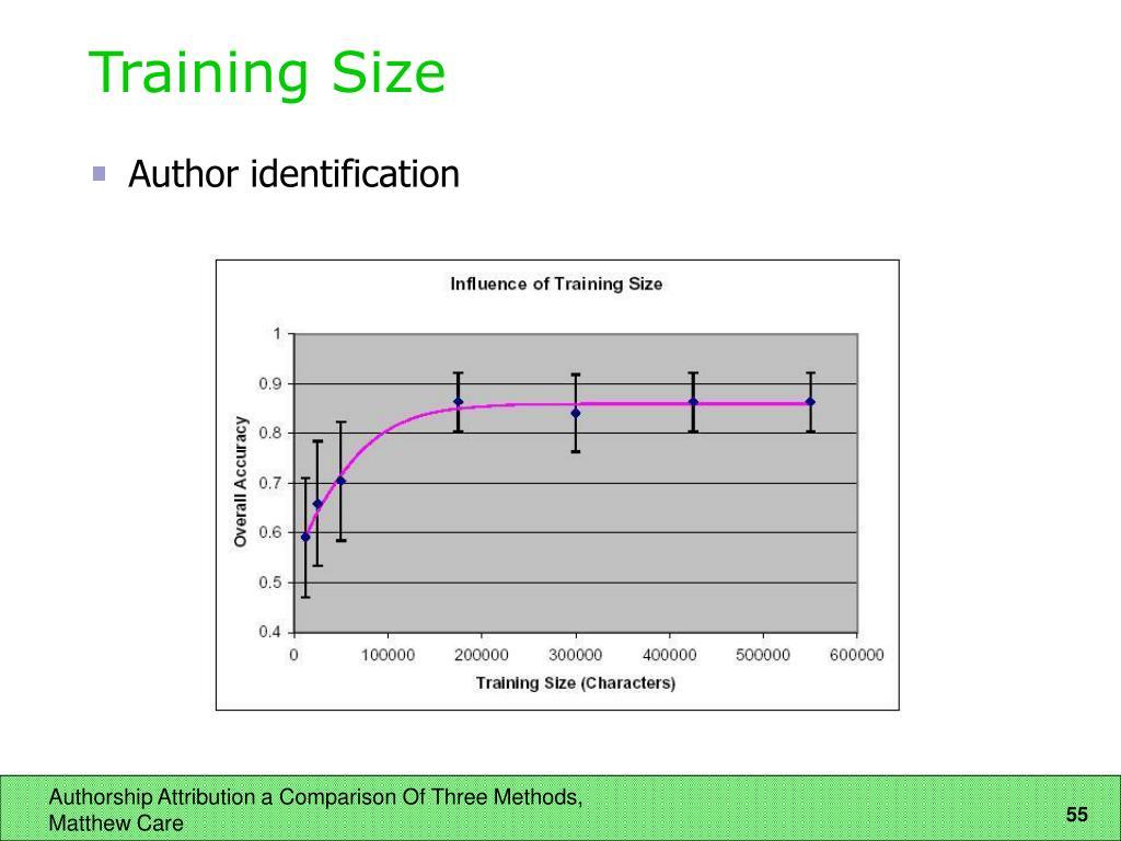 Training Size