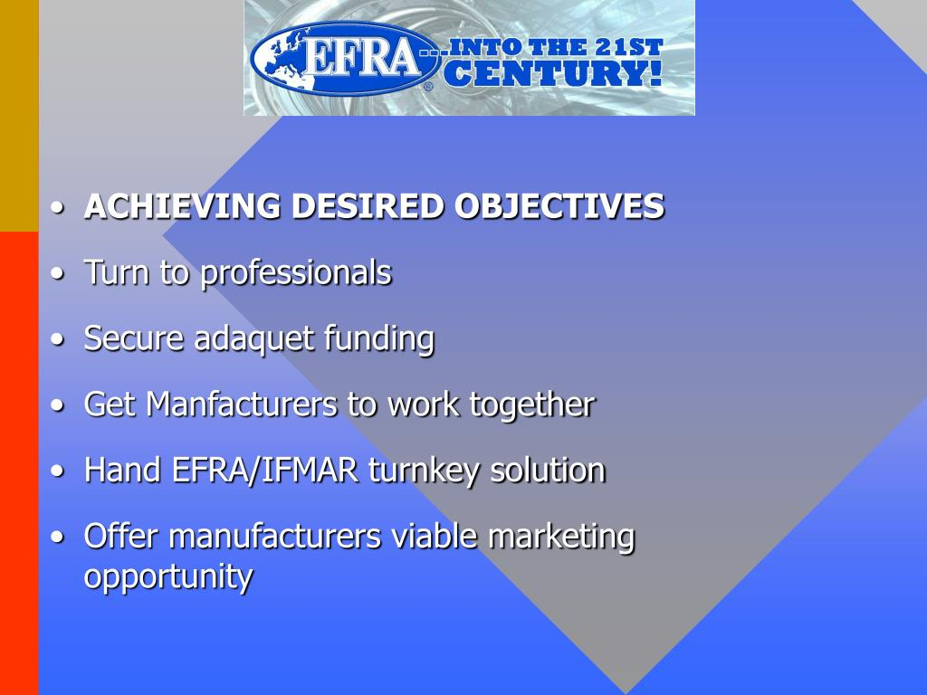 ACHIEVING DESIRED OBJECTIVES