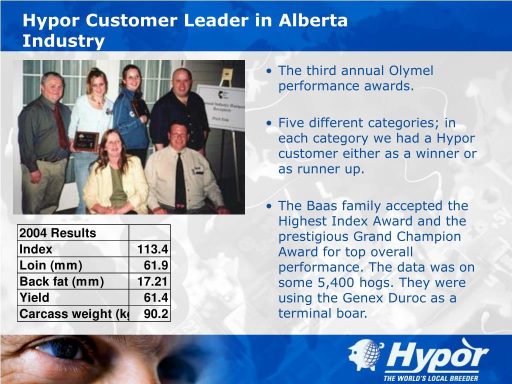 Hypor Customer Leader in Alberta Industry