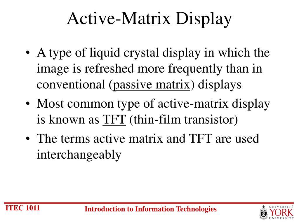 Active-Matrix Display