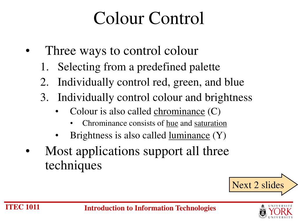 Colour Control