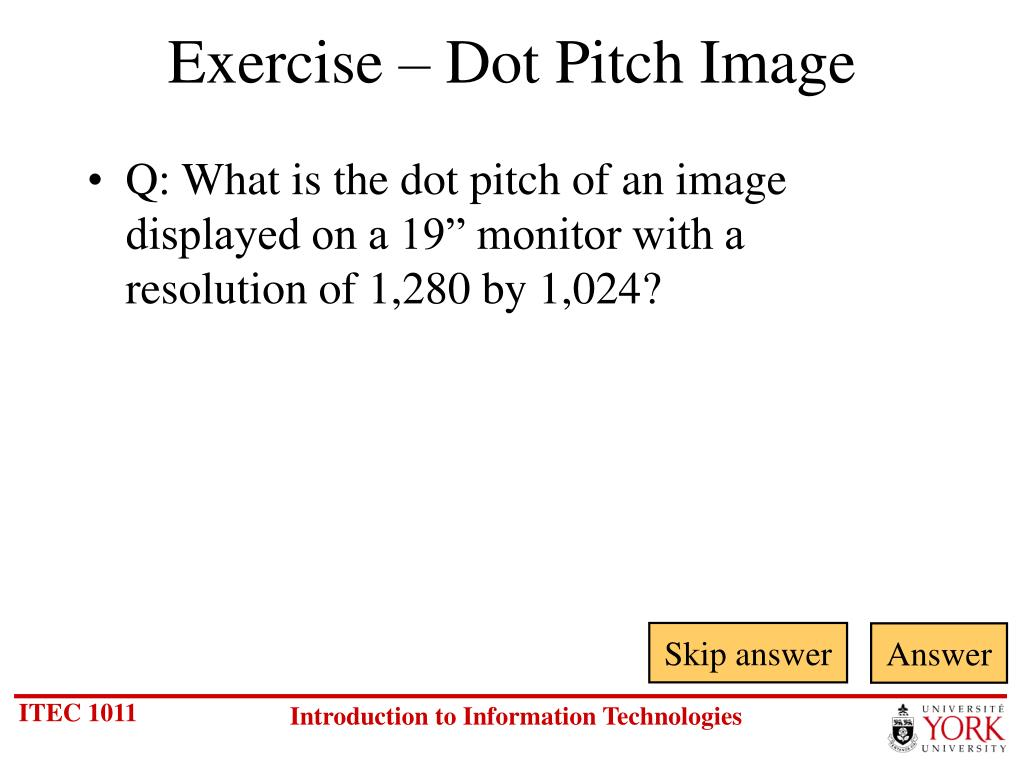 Exercise – Dot Pitch Image