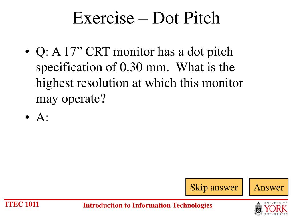Exercise – Dot Pitch