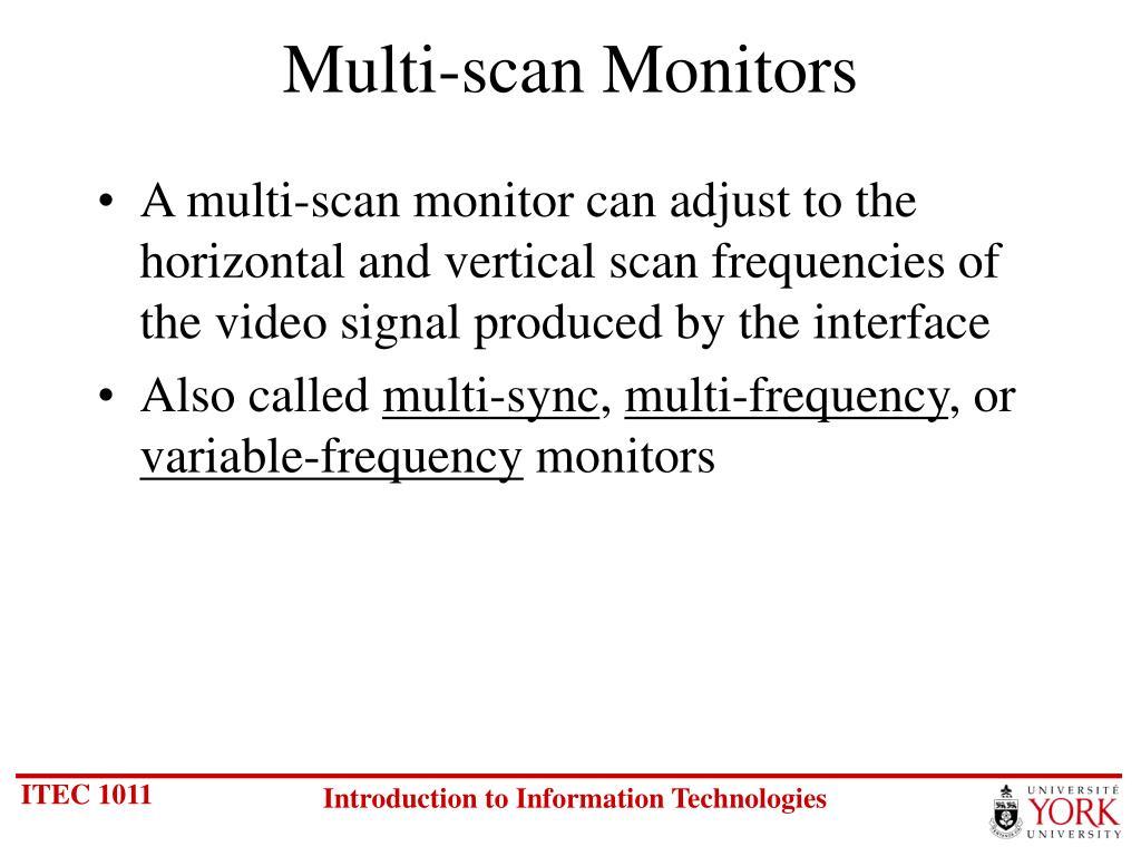 Multi-scan Monitors