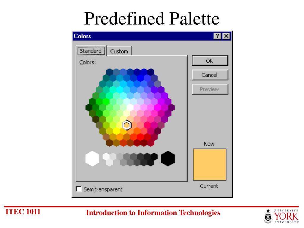 Predefined Palette