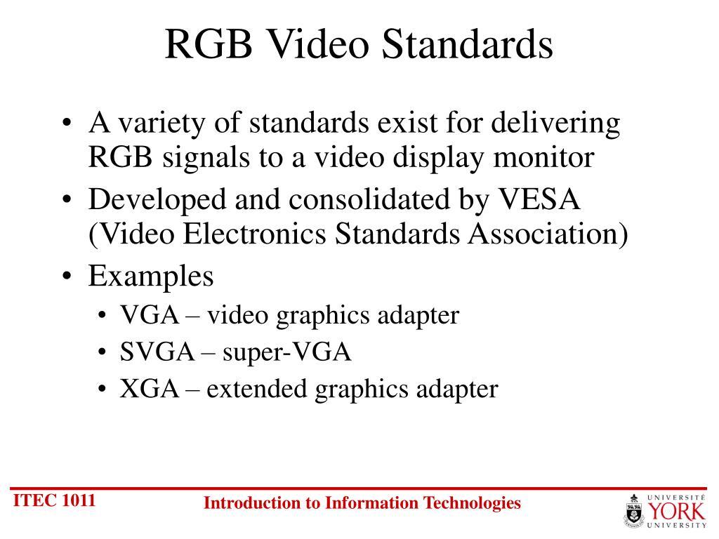 RGB Video Standards