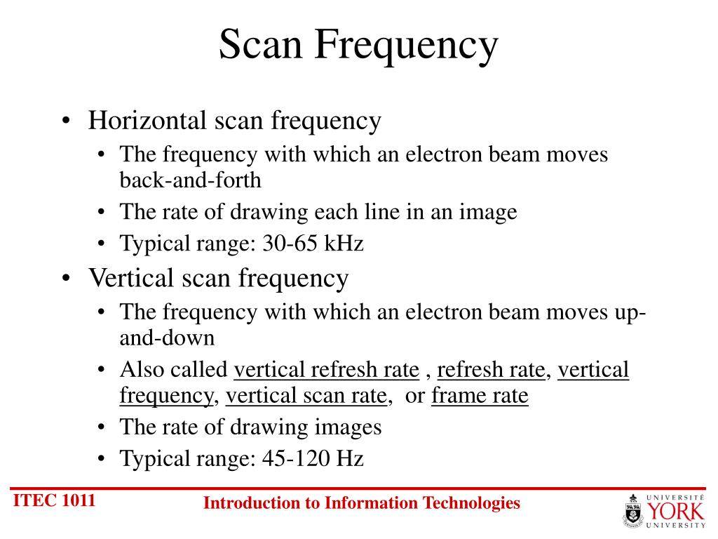 Scan Frequency