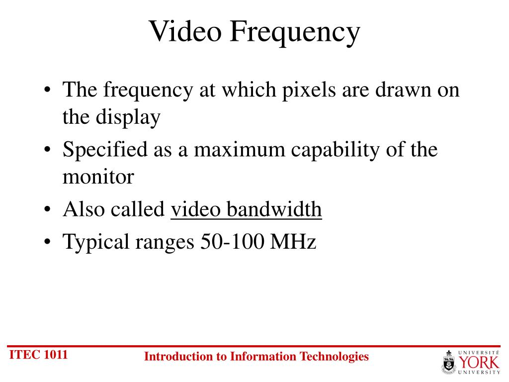 Video Frequency