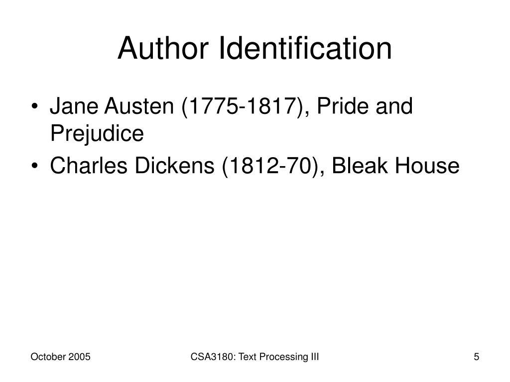 Author Identification