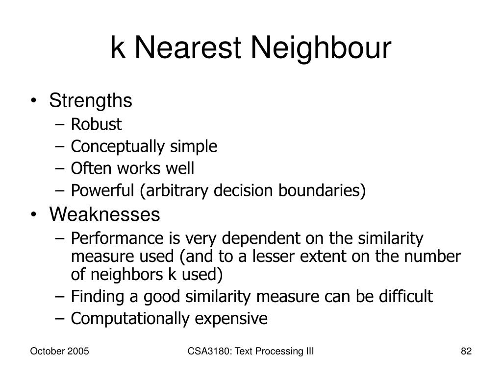 k Nearest Neighbour