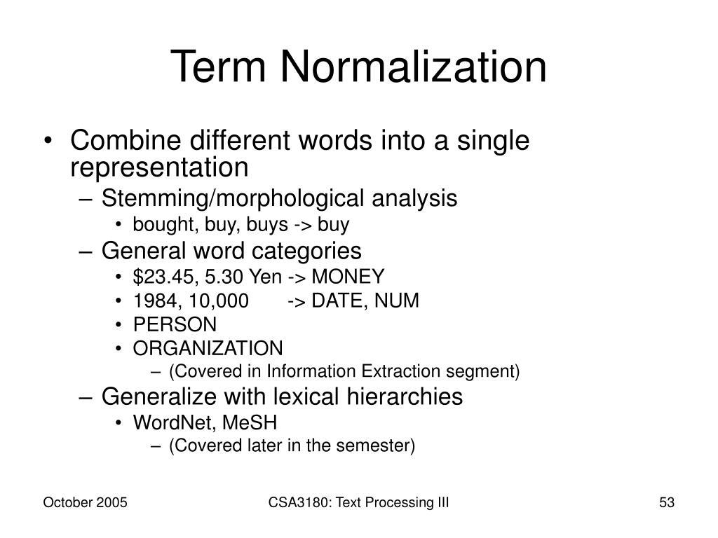 Term Normalization