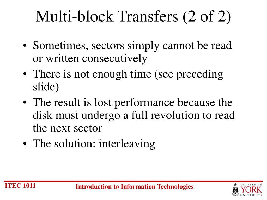 Multi-block Transfers (2 of 2)