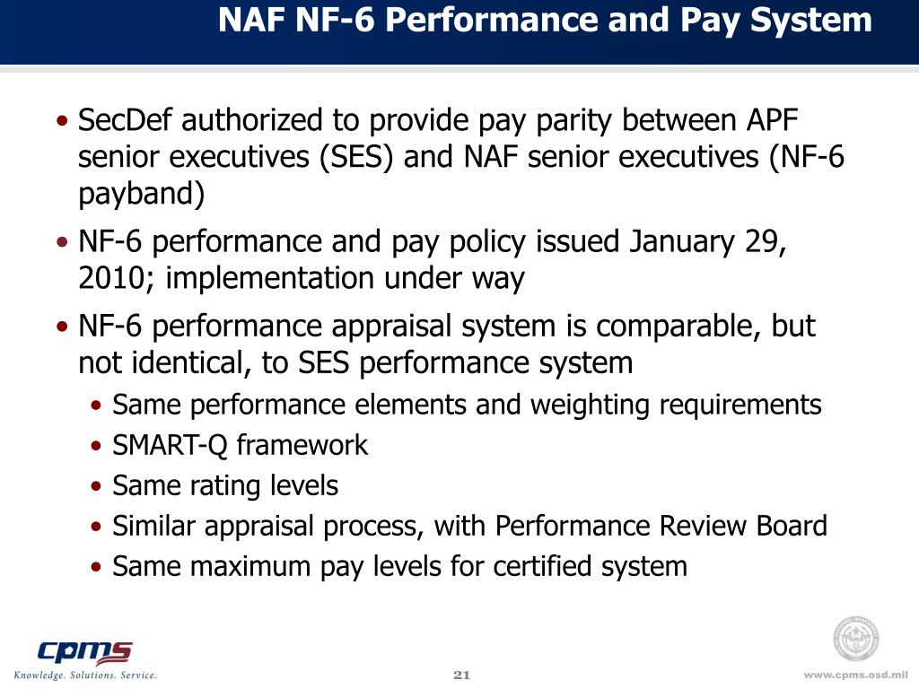 NAF NF-6 Performance and Pay System
