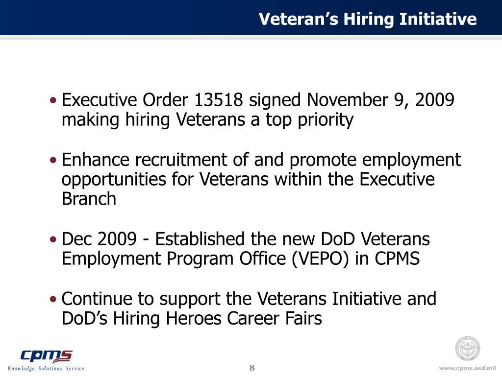 Veteran's Hiring Initiative