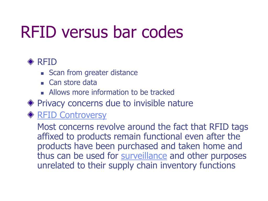 RFID versus bar codes