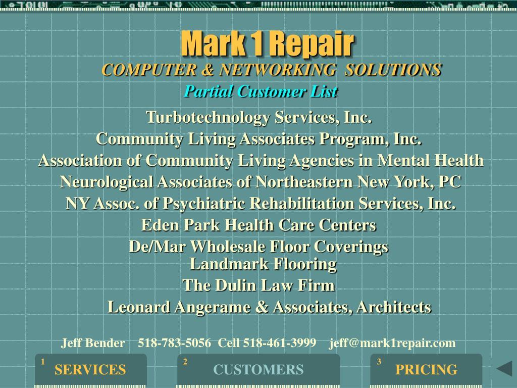 Mark 1 Repair