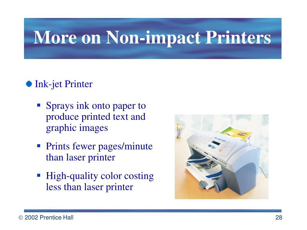 More on Non-impact Printers