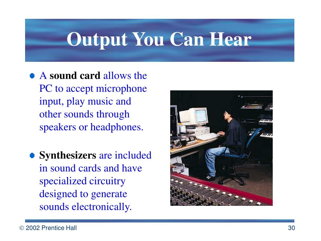 Output You Can Hear