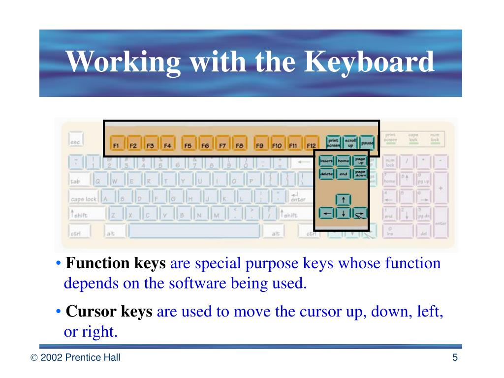 Working with the Keyboard