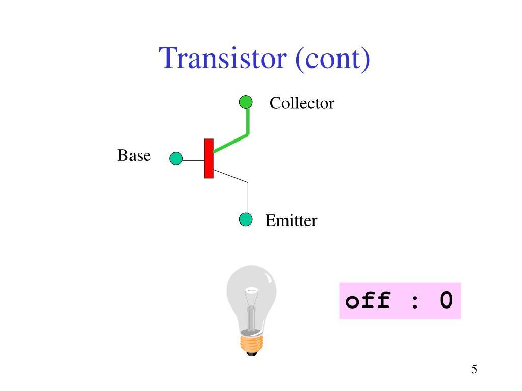 Transistor (cont)