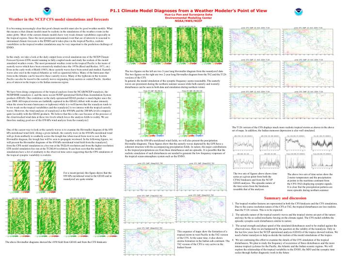 P1.1 Climate Model Diagnoses from a Weather Modeler's Point of View