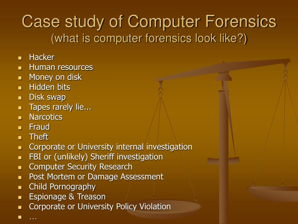 Case study of Computer Forensics