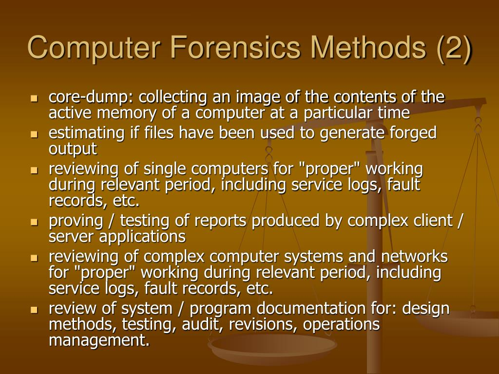 Computer Forensics Methods (2)
