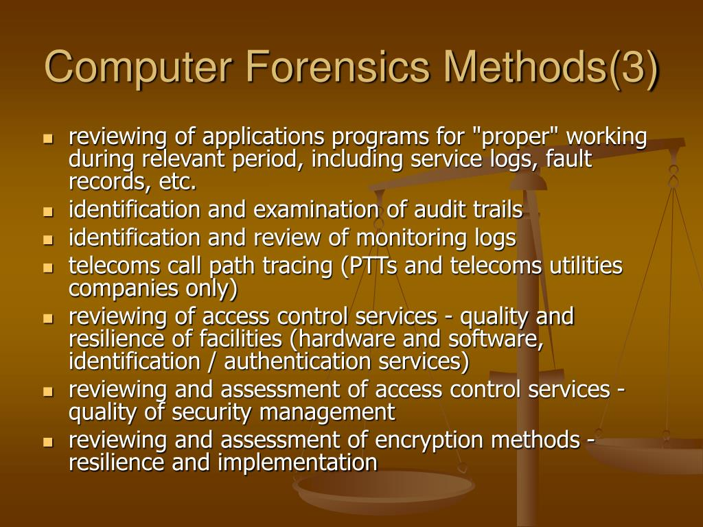 Computer Forensics Methods(3)
