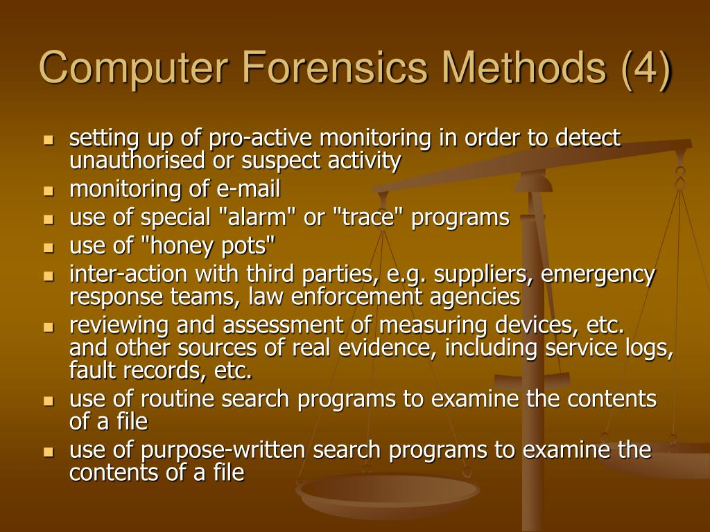 Computer Forensics Methods (4)