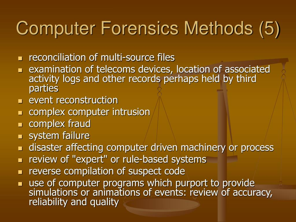 Computer Forensics Methods (5)
