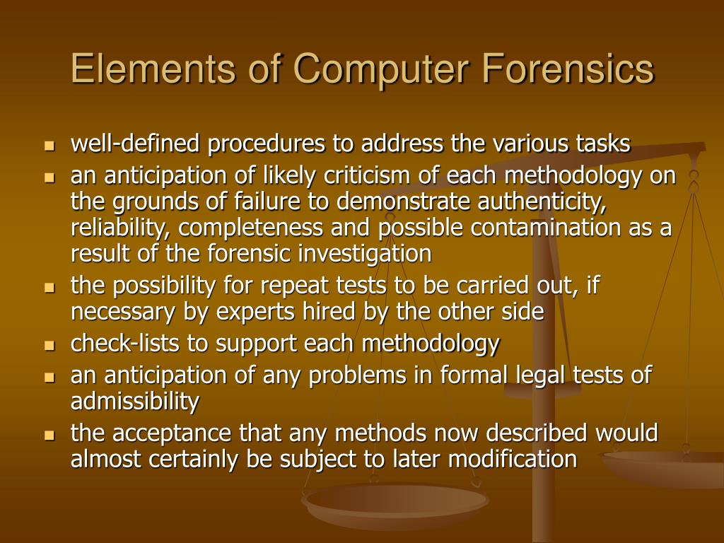 Elements of Computer Forensics