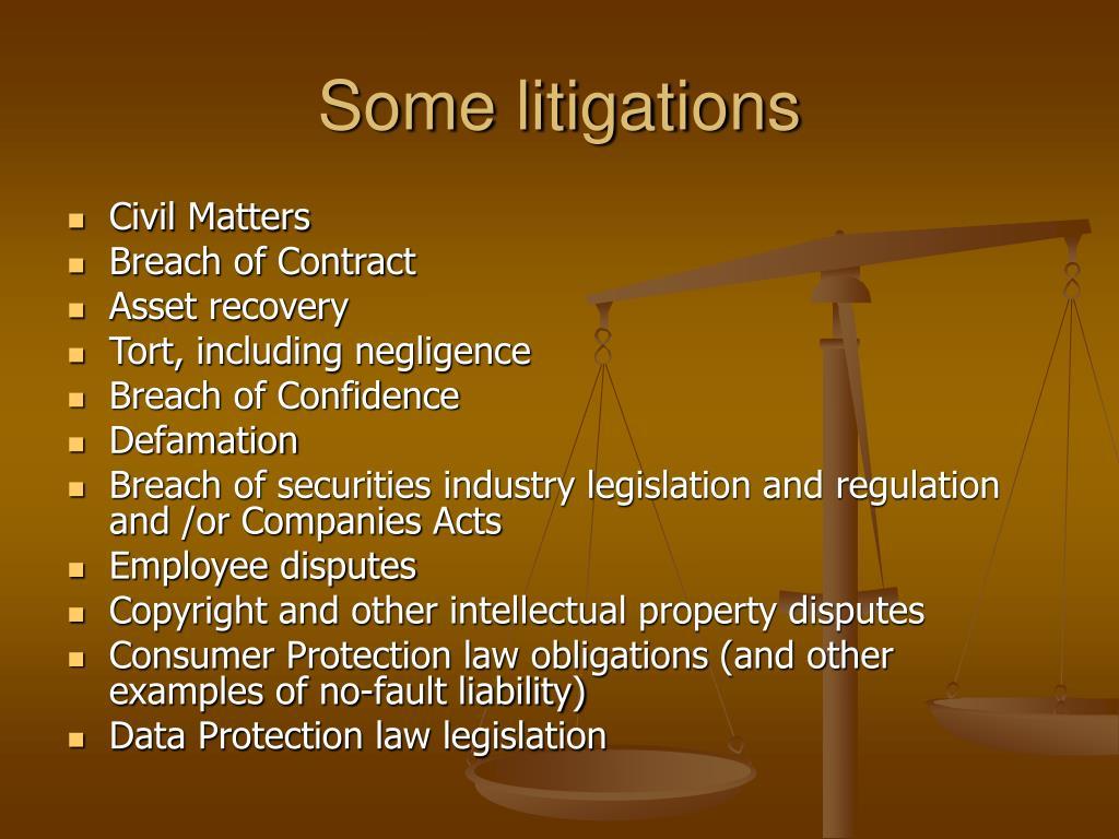 Some litigations